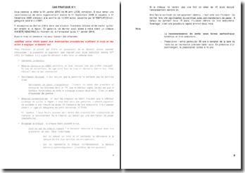 Cas pratiques - Procédure civile, voies d'éxécution