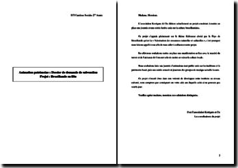 Dossier de demande de subvention Projet : Brocéliande en fête
