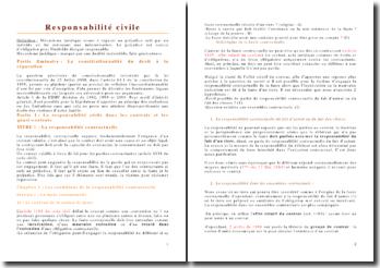 Cour complet de responsabilité civile, 2ème année de droit