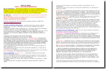 Droit du crédit/sûretés Fiche de révision: les sûretés immobilières