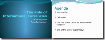 Role of international currency