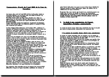Commentaire d'arrêt de la Cour de Cassation du 9 mai 2008