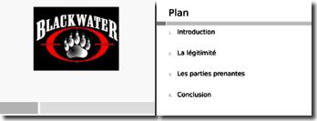 Présentation Xe alias Blackwater - Société militaire privée