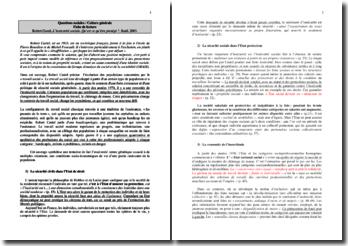 Robert Castel L'insécurité sociale. Qu'est ce qu'être protégé ?, Seuil, 2003.