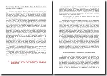 Commentaire d'arrêt : l'arrêt Baldus (Cour de Cassation, 1ère chambre civile, 3 mai 2000)