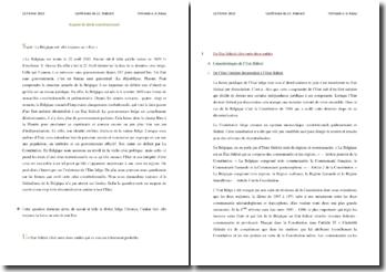 L'Etat belge existe-il toujours ? Disseration de droit constitutionnel