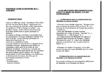 FICHE STENDHAL LIVRE II CHAPITRE XLV : L'EXCIPIT