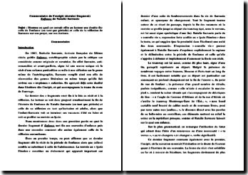 Nathalie Sarraute, Enfance, Excipit (dernier fragment) : commentaire