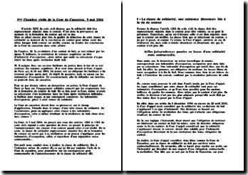 3ème Chambre civile de la Cour de Cassation, 5 mai 2004