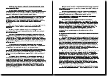 L'autorité de la décision du Conseil constitutionnel sur le statut pénal du chef de l'Etat