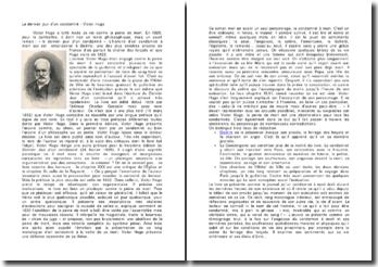 Le dernier jour d'un condamné - Victor Hugo - indignation face aux actes de sang-froid perpétués par la société
