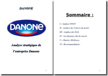 Analyse de la stratégie de Danone