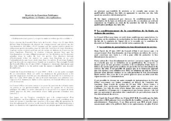 Droit de la Fonction Publique: Obligations et Fautes disciplinaires