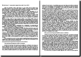 Commentaire conjoint d'arrêts, 1ère civ, 3 mars 2010