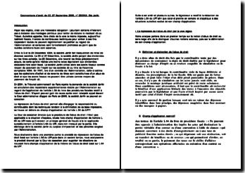 commentaire d'arrêt société Janfin, CE, 27 Septembre 2006