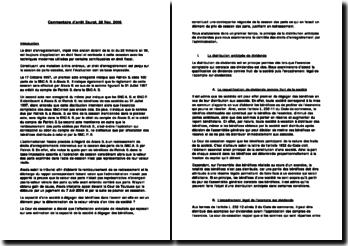 Commentaire d'arrêt société Saurat, CE, 28 Novembre 2006