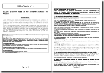 L'année 1968 et les soixante-huitard en France