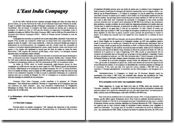 Histoire de l'East India Compagny