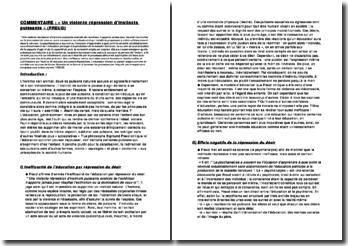 Commentaire de texte de philosophie - Texte de Freud (L'intérêt de la psychanalyse): Une violente répression d'instincts puissants ...