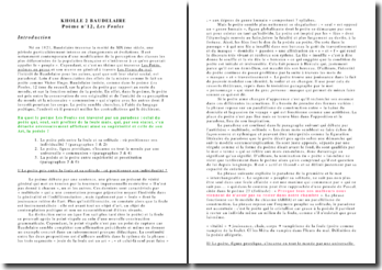 Analyse linéaire : Les Foules, Baudelaire