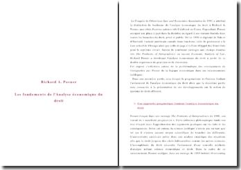 Richard A. Posner: les fondements de l'analyse économique du droit