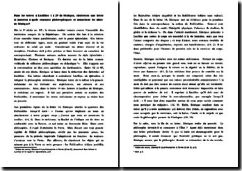 Les courants philosophiques dans les lettres à Lucillius de Sénèque