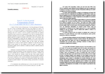 Commentaire d'arrêt : Civ. 1re, 22 mai 2008, n 05-20.317, arrêt « Beaulaton »