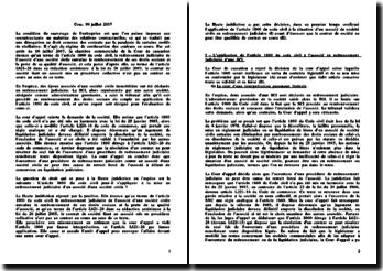 Chambre commerciale, 10 juillet 2007, le contrat de société n'est pas un contrat en cours