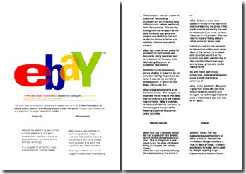 Ebay's strategy