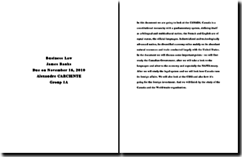 International business law Canada