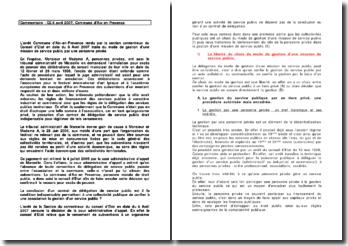 Commentaire : CE 6 avril 2007, Commune d'Aix-en-Provence