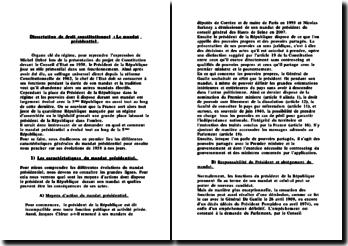dissertation le préambule de la constitution de 1958