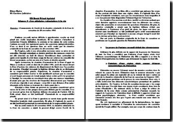 Commentaire de l'arrêt de la chambre criminelle de la Cour de cassation du 26 novembre 1991