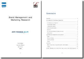 Brand Managment : AirFrance KLM