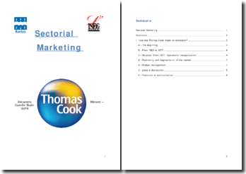 Sectorial marketing : thomas cook