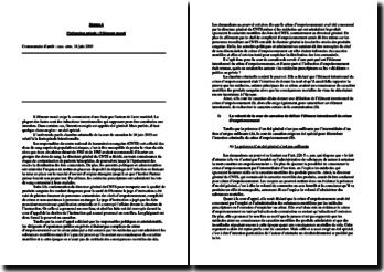 Commentaire d'arrêt : cass. crim. 18 juin 2003