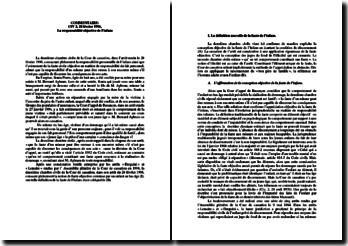 Commentaire de l'arrêt Civ 2, 28 février 1996, la responsabilité objective de l'infans.