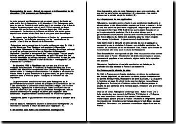 Commentaire du Discours du 25 décembre 1793 prononcé par Robespierre devant le Comité de Salut Public