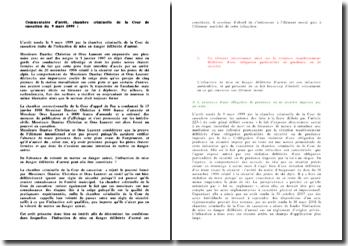 Commentaire d'arrêt du 9 mars 1999