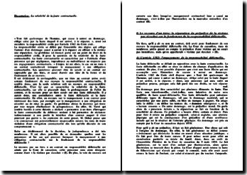 Dissertation: La relativité de la faute contractuelle.