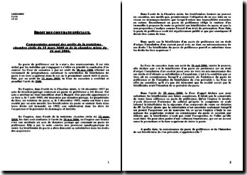 Commentaire groupé des arrêts de la troisième chambre civile du 25 mars 2009 et de la chambre mixte du 26 mai 2006.