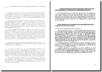 Commentaire de l'arrêt de l'assemblée plénière du 13 décembre 2002