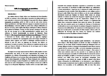 FIche de Lecture. LQR, La propagande du Quotidien.
