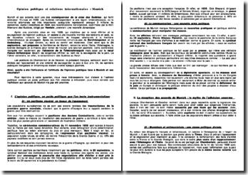 Opinions publiques et relations internationales : le cas de la conférence de Munich