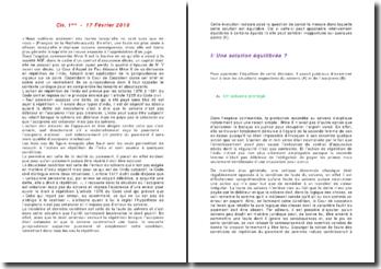Commentaire de l'arrêt Civ. 1ère - 17 Février 2010