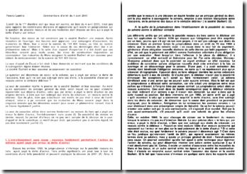 Commentaire d'arrêt de la cour de cassation du 4 avril 2001 : celui qui par erreur a payé la dette d'autrui de ses propres deniers, a bien que non subrogé aux droits du créancier, un recours contre le débiteur