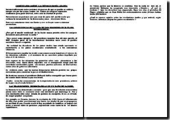 COMENTARIO SOBRE LAS REVOLUCIONES ARABES EN ESPAÑOL : COMENTARIO SOMBRE UN TEMA DE ACTUALIDAD
