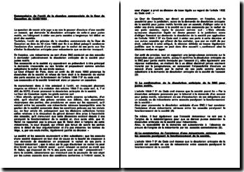 Commentaire de l'arrêt de la chambre commerciale de la Cour de Cassation du 12/03/1996