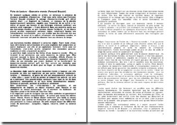 Economie-monde - Fernand Braudel