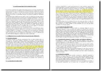 Le contrôle interne dans le droit européen des sociétés